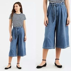 Levis High Waisted Wide Leg Culottes Size 27